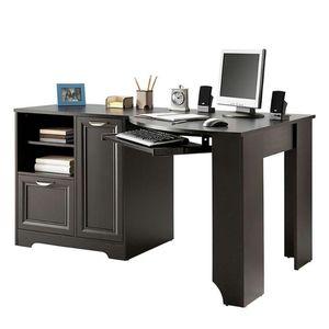 Corner work/computer desk - Black/Espresso for Sale in Sun City, AZ