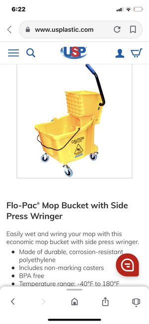 Rubbermaid mop bucket for Sale in Cleveland, OH