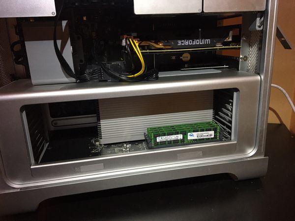 Mac Pro 5,1, 3.46mhz, 32gig ram, 2gb ddr5 card, 250SSD