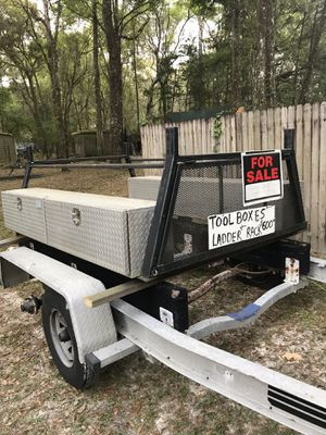 Toolbox's and HD ladder rack , pipe rack for Sale in Brooksville, FL