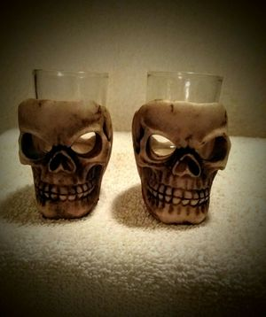 The Sinister Skull 💀 1oz Shot Glasses (2pcs) 💀NEW💀 for Sale in Simi Valley, CA