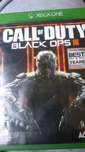 Xbox one Black ops 3 case and disc for Sale in Elma, WA