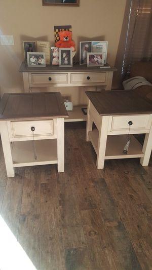 Ashley furniture...sofa table....2 end table,farmhouse for Sale in Tolleson, AZ