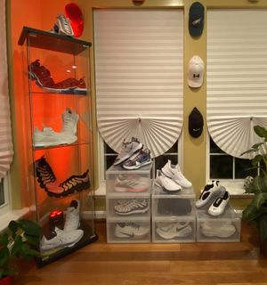 2~Durable Clear Plastic Sneaker Display/Storage Box for Sale in Woodstock, MD
