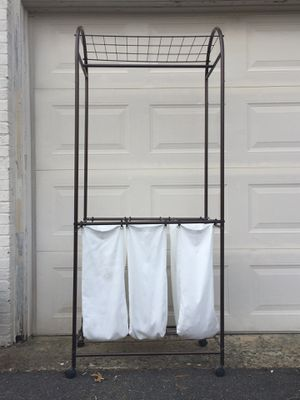 Rolling Laundry Sorter with three bags for Sale in Great Falls, VA