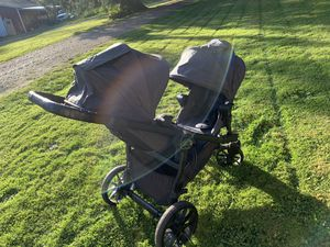 City Select Lux - Baby Jogger Double Stroller - with Chicco Adapters included! for Sale in Stanwood, WA