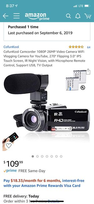 Brand new Camcorder video camera for Sale in South El Monte, CA