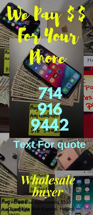 iphone 6s 8 plus x xr xs max 11 pro ipad apple watch macbook for Sale in Garden Grove, CA