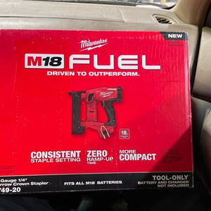 Milwaukee M18 Fuel 18 Gauge Narrow Crown Staple Gun for Sale in Hayward, CA