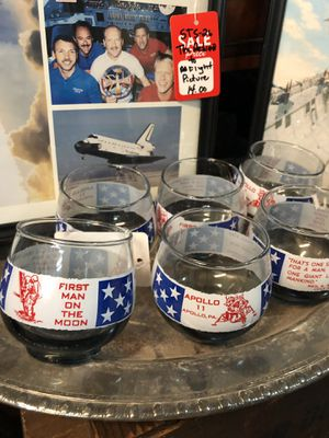 6 APOLLO 11 NASA astronaut glasses. Very collectible. Antique vintage 1969. All 6 for 40.00. Great for 50 year anniversary of moon landing. 212 nor for Sale in Buda, TX