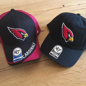 1b9056daef0 Two AZ Cardinals Hats NWT  47 Brand Adult Size Large Dad Hat + Youth  Adjustable