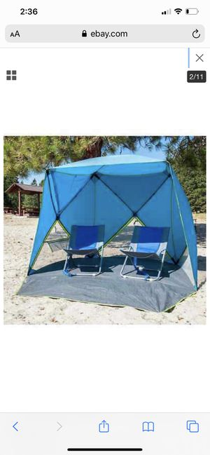 Bahama Bay Pop up Shelter Tent Canopy Portable Shade Beaches Backyard Camp for Sale in North Wales, PA