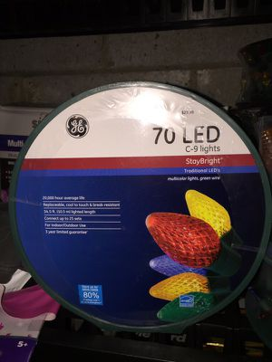 Used, New 70 MULTICOLORED 70 LED C9 Christmas lights for Sale for sale  Freehold, NJ