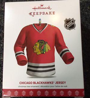 Brand new Hallmark Chicago Blackhawks Jersey Christmas ornament for Sale in Stickney, IL