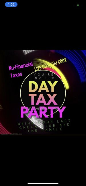 Day Tax party December 28th for Sale in Chamblee, GA