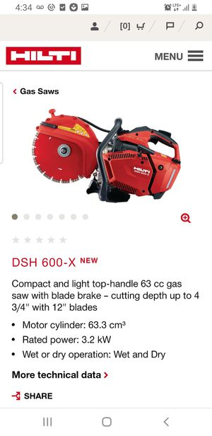 Hilti dsh 600 x saw with blade and water pump for Sale in Corona, CA
