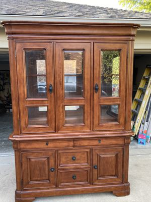 2 pc. China cabinet $325 for Sale in Garland, TX