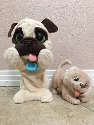 Furreal friends JJ my jumping pug pet plush and puppy PLEASE READ DESCRIPTION for Sale in Henderson, NV
