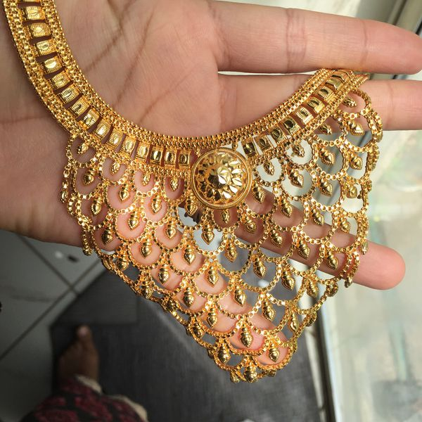 22k gold PLATED women's jewelry Indian Asian bridal wedding party jewelry