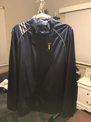 """Authentic """"Adidas"""" Sport Jacket Super Golf Style Clima- Proof Track Neck with 3- Stripes Logo and pockets Full Zipper- New Never Used for Sale in Los Angeles, CA"""