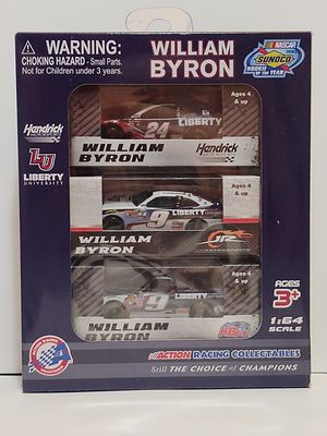 William Byron Liberty University rookie of the year 3 car set for Sale in Elizabethton, TN