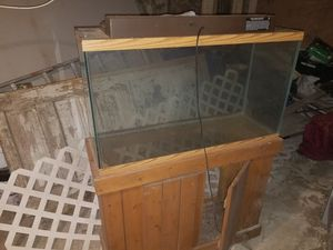 Aquarium with Stand about 50 gallons for Sale in Philadelphia, PA