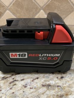 Milwaukee M18 Extended Capicity 5.0 Battery!! for Sale in Los Angeles,  CA