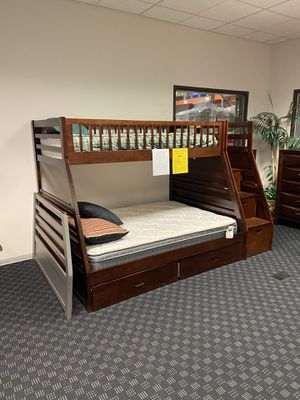 New & In Stock! Bunk Bed W/ Storage Drawers & Steps All For $599! Available & In Stock In White, Grey, Expresso & Walnut! for Sale in Vancouver, WA