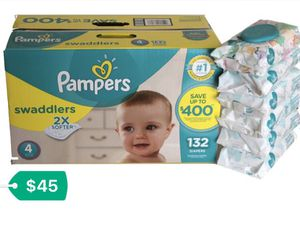 Swaddler Pampers/ Sensitive Wipes Bundle for Sale in Fort Lauderdale, FL