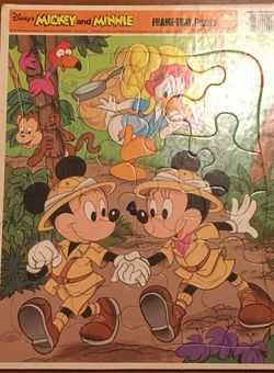 Disney Mickey And Minnie Frame Tray Puzzle for Sale in Los Angeles,  CA