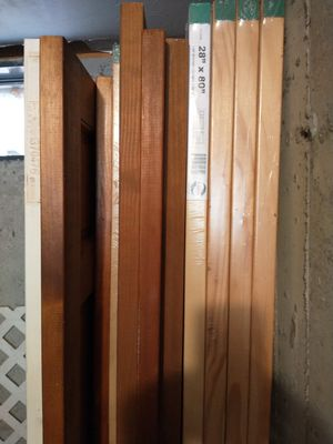 5 new raised panel door blanks plus others for Sale in Walpole, MA