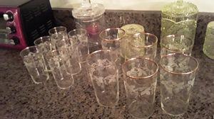 Antique crystal glasses vintage for Sale in Las Vegas, NV