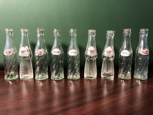 Antique VERY RARE Pepsi Cola Glass Miniature Bottles for Sale in Round Rock, TX