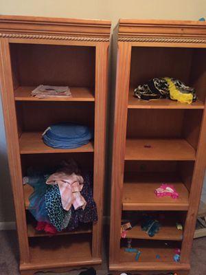 Oak shelf cabinet Good for kids 20 bucks apiece or best offer for Sale in Collingdale, PA