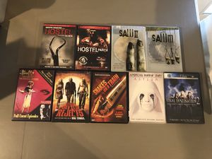 Assorted horror movie DVDs for Sale in Friendswood, TX