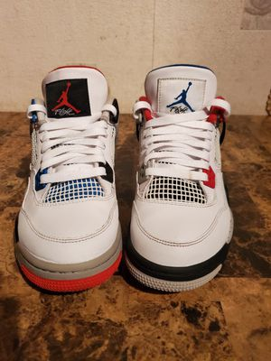 """Nike Air Jordan 4 Retro GS """"WHAT THE"""" 408452-146 7Y for Sale in Florissant, MO"""
