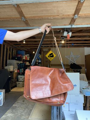 Leather messenger bag for Sale in Redmond, WA