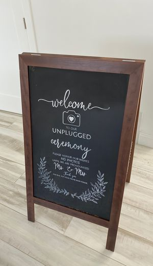 unplugged wedding sign for Sale in Whittier, CA