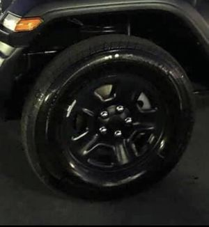 Set of 5 Jeep Tires and wheels for Sale in Rancho Cucamonga, CA