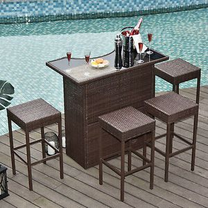 5 Pcs Bistro Patio Dining Furniture Outdoor Use for Sale in Phoenix, AZ