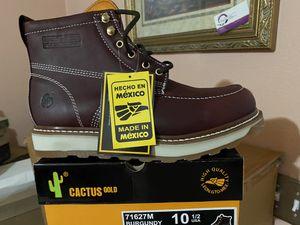 Zapato de trabajo echo en mexico 100% piel for Sale in Riverside, CA