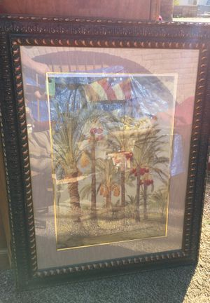 Wall Art Palm Trees Beautiful Framed- located in Apache Junction for Sale in Apache Junction, AZ
