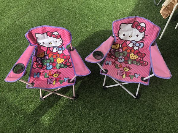 Two hello kitty children's chairs