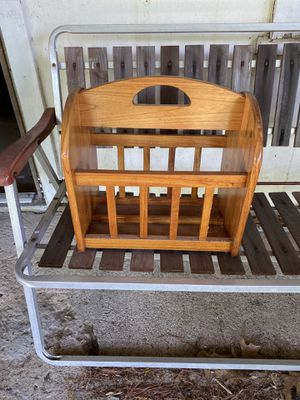 Wooden magazine rack for Sale in Peabody, MA