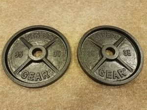 ** OLYMPIC WEIGHTS - (2) #35 LBS. PLATES - FITNESS GEAR SET - NEW ** for Sale in Eastlake, OH