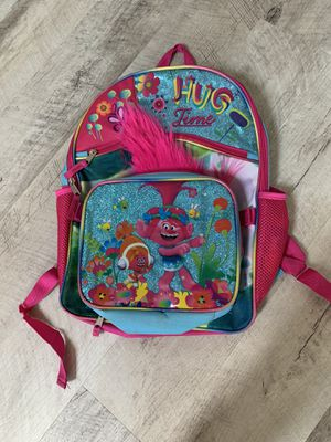Trolls backpack and lunch tote for Sale in New Lenox, IL
