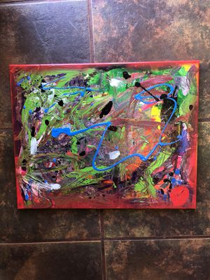 "Abstract painting medium size 14""x16"" inches original 125$ for Sale in San Diego, CA"