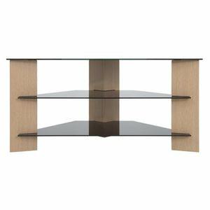 Verano TV Stand Oak With Black Glass Shelves For TV's Upto 42 Inch FS900VARWB-A for Sale in El Cajon, CA