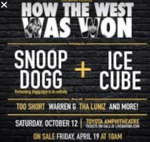 Snoop tickets for Sale in Galt, CA