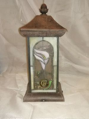 Painted glass bird feeder 11 in tall 5 in wide for Sale in Wichita, KS
